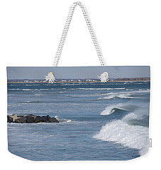 Weekender Tote Bag featuring the photograph Hereford Inlet by Greg Graham