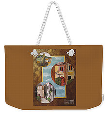 Weekender Tote Bag featuring the painting Heritage by Judy Via-Wolff