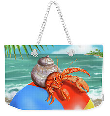 Hermit Crab On A Beachball Weekender Tote Bag