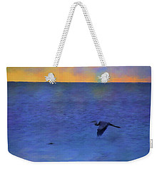 Heron Across The Sea Weekender Tote Bag
