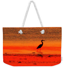 Heron At Dawn Weekender Tote Bag