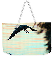Heron At Dusk Weekender Tote Bag