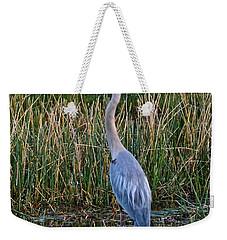 Heron At Sunset Weekender Tote Bag by Carol  Bradley