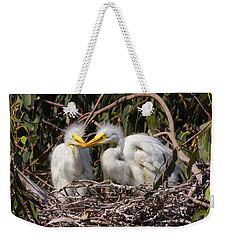 Heron Babies In Their Nest Weekender Tote Bag