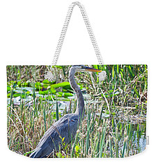 Heron By The Riverside Weekender Tote Bag