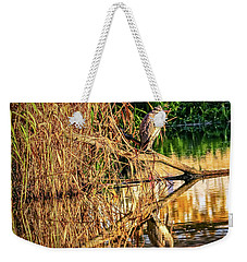 Heron In Autumn #g9 Weekender Tote Bag