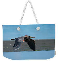 Heron In Flight Weekender Tote Bag