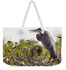 Heron In Nest Weekender Tote Bag
