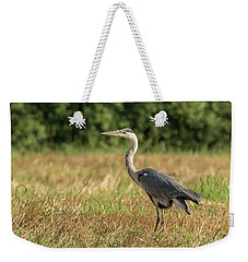 Heron In The Field Weekender Tote Bag