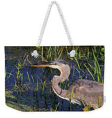 Heron Macro Weekender Tote Bag