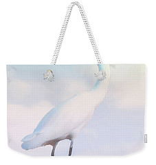 Heron Or Egret Stance Weekender Tote Bag by Joseph Hollingsworth