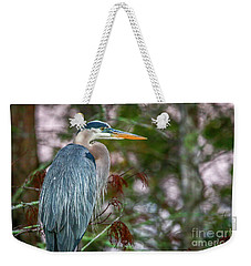 Heron Perched In Tree #2 Weekender Tote Bag