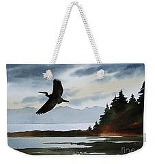 Heron Silhouette Weekender Tote Bag by James Williamson
