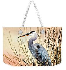 Heron Sunset Weekender Tote Bag
