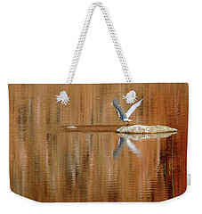 Weekender Tote Bag featuring the photograph Heron Tapestry by Evelyn Tambour