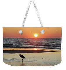 Heron Watching Sunrise Weekender Tote Bag