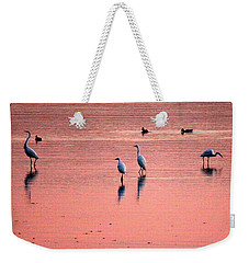 Herons At Sunrise Weekender Tote Bag