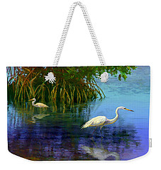 Herons In Mangroves Weekender Tote Bag by David  Van Hulst