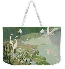 Herons In Summer Weekender Tote Bag