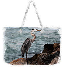 Heron's Ocean Rocks Weekender Tote Bag