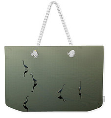 Herons On Lake 367 Weekender Tote Bag
