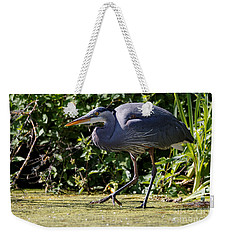 Weekender Tote Bag featuring the photograph Herons Pond by Sue Harper