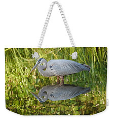 Heron's Reflection Weekender Tote Bag by Jane Ford