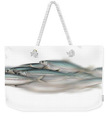 Herring School Of Fish - Clupea - Nautical Art - Seafood Art - Marine Art - Game Fish Weekender Tote Bag