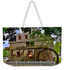 Weekender Tote Bag featuring the photograph Herr's Grist Mill by Lisa Wooten