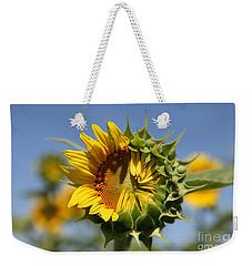Hesitant Weekender Tote Bag by Amanda Barcon