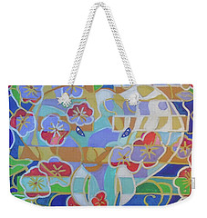 Weekender Tote Bag featuring the painting Hexagram 16 - Yu - Enthusiasm by Denise Weaver Ross