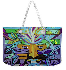 Weekender Tote Bag featuring the painting Hexagram 24-fu-turning-point by Denise Weaver Ross