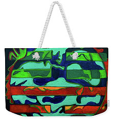Weekender Tote Bag featuring the painting Hexagram 36 - Ming Yi by Denise Weaver Ross