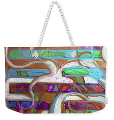 Weekender Tote Bag featuring the painting Hexagram 39-jian by Denise Weaver Ross