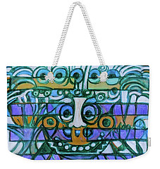 Weekender Tote Bag featuring the painting  Hexagram-42-yi-increase by Denise Weaver Ross