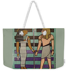Weekender Tote Bag featuring the painting  Hexagram 43-guai-truth To Power by Denise Weaver Ross