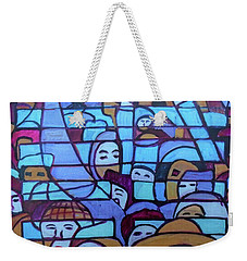 Weekender Tote Bag featuring the painting Hexagram 45-cui-gathering by Denise Weaver Ross