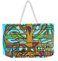 Weekender Tote Bag featuring the painting Hexagram 46-sheng-pushing Upward by Denise Weaver Ross
