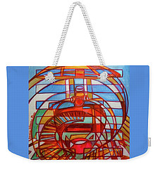 Weekender Tote Bag featuring the painting Hexagram 48-jing-the Well by Denise Weaver Ross