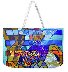 Weekender Tote Bag featuring the painting Hexagram 49-ge-transformation by Denise Weaver Ross