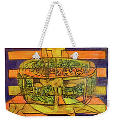 Weekender Tote Bag featuring the painting Hexagram 50-ding-the-cauldron by Denise Weaver Ross