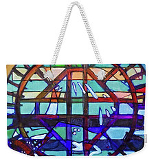 Weekender Tote Bag featuring the painting Hexagram-53-jian-replenish by Denise Weaver Ross