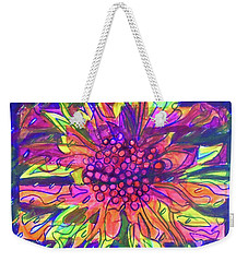 Weekender Tote Bag featuring the painting Hexagram-55-feng-abundance by Denise Weaver Ross