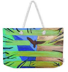 Weekender Tote Bag featuring the painting Hexagram-57-xun-penetrating-wind- by Denise Weaver Ross