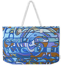 Weekender Tote Bag featuring the painting Hexagram 59 - Huan Dispersion by Denise Weaver Ross