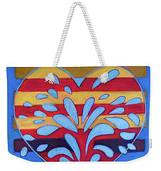 Weekender Tote Bag featuring the painting Hexgram-25-wu-wang-hexagram by Denise Weaver Ross