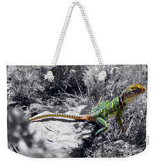 Hey, I'm Posing Here Weekender Tote Bag by Charles Ables