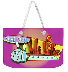 Weekender Tote Bag featuring the photograph Hi Life Drink And Drag by Jeff Burgess