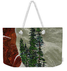 Hi Mountain Pine Trees Weekender Tote Bag