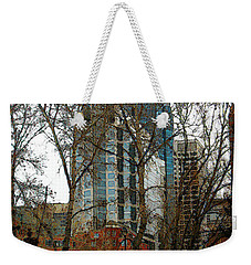 Weekender Tote Bag featuring the digital art Hi-rise Living  by Stuart Turnbull